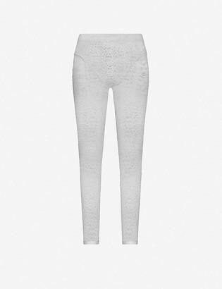 Adam Selman Sport French Cut high-rise stretch-lace leggings