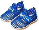 SexRt Boys and Girls Water Shoes Breathable Mesh Slip-on Sneakers for Running Walking Pool Beach (Toddler / Little Kid / Big Kid),0001,blue,30
