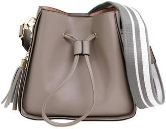 Belle & Bloom DAIS200GRY Grey Daisy Drawstring Shoulder Bag