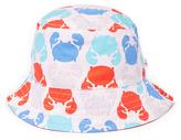 Children's Apparel Network White & Orange Crab Reversible Bucket Hat