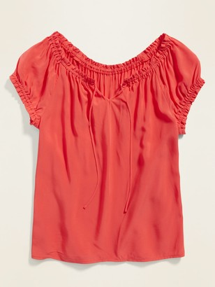 Old Navy Ruffled Tie-Neck Blouse for Women