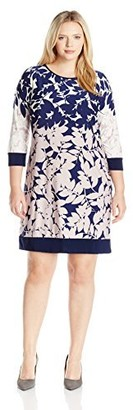 MSK Women's Plus Size Floral Shift