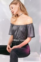 Ecote Bianca Shimmer Off-The-Shoulder Top