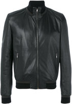 Dolce & Gabbana classic biker jacket - men - Lamb Skin/Polyamide/Polyester/Wool - 48
