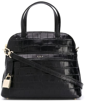 Furla Piper S crocodile tote bag