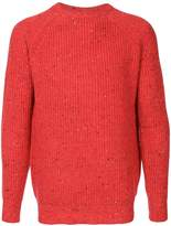 GUILD PRIME flecked ribbed sweater