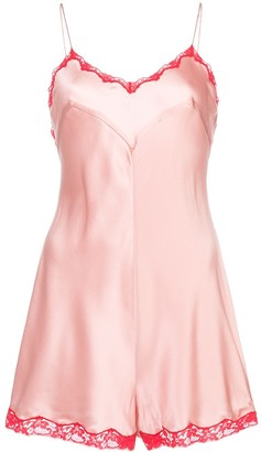 Morgan Lane Genevieve silk romper