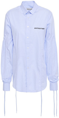 Each X Other Fringed Cotton-poplin Shirt