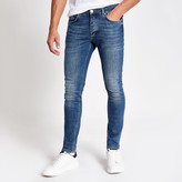 Mens River Island Mid Blue Sid skinny fit jeans