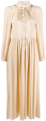Forte Forte Pointed Collar Midi Dress