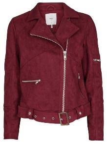Minimum Burgundy Biker Style Jacket - 36 (10) - Red
