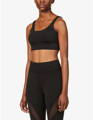 Michi Lotus scoop-neck stretch-jersey sports bra