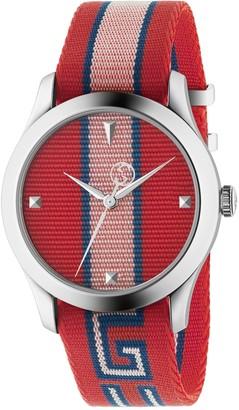 Gucci Men's Timeless Nylon Strap Watch, 37mm