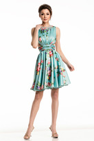 Johnathan Kayne 7200 Floral Printed Ruched Cocktail Dress