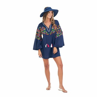 Mud Pie Women's Navy Tillery Cover Up (Small)
