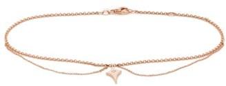Diane Kordas Shield-charm Diamond & Rose-gold Anklet - Womens - Gold