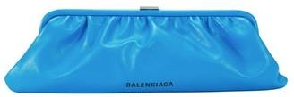 Balenciaga Cloud XL leather clutch with stap