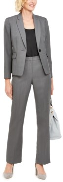 Le Suit Single-Button Pants Suit