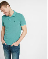 Express garment dyed small lion pique polo