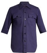 Balenciaga Patch-pocket Cotton-drill Shirt