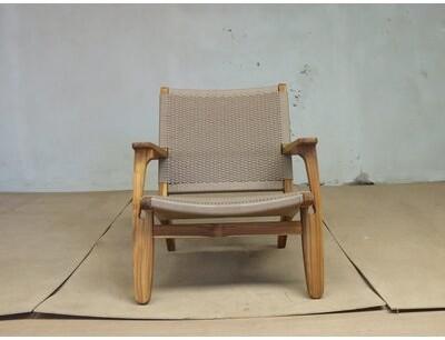 "Thumbnail for your product : Masaya & Co 28"" Wide Armchair Fabric: Momotombo, Leg Color: Teak"