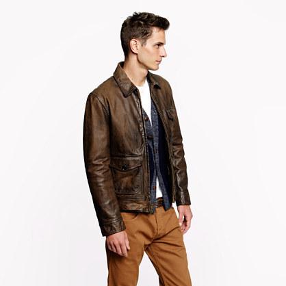 J.Crew Leather Garrett jacket