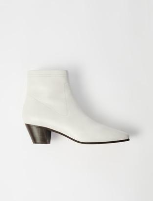 Maje Leather sock boots