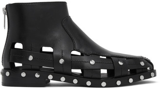 3.1 Phillip Lim Black Studded Cut-Out Alexa Boots