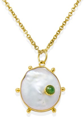 Vintouch Italy Rebel Rebel Green Emerald Pendant Necklace