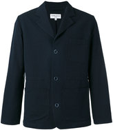 YMC distressed button blazer - men - Cotton/Linen/Flax/Polyester - S