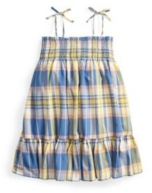 Polo Ralph Lauren Little Girls Plaid Madras Dress