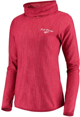Antigua Women's Heathered Red Detroit Red Wings Equalizer Pullover Sweatshirt