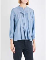 Nili Lotan Estelle cotton-chambray shirt