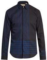 Burberry London Melthorpe Checked Cotton-herringbone Shirt