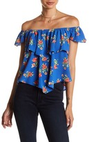 Mimichica Mimi Chica Layered Off-the-Shoulder Blouse