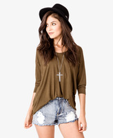 Forever 21 3/4 Sleeve Jersey Top