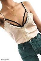 Forever 21 FOREVER 21+ Contemporary Lace Trim Cami