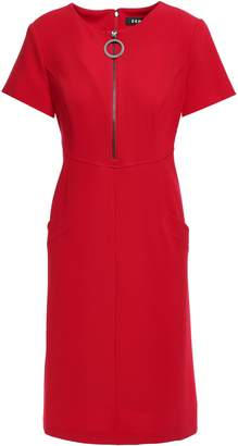 DKNY Zip-detailed Stretch-crepe Dress
