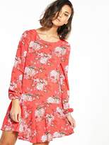Glamorous Drop Hem Printed Dress
