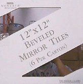 "Somerset Erias Mirror Tile 12 "" X 12 "" Beveled Edge 6/Box"