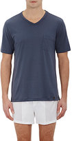 Hanro Men's Jersey T-Shirt-DARK GREY, GREY