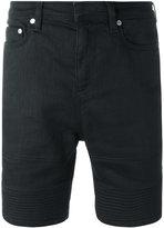 Neil Barrett ribbed detail denim shorts - men - Cotton/Nylon/Spandex/Elastane - 30