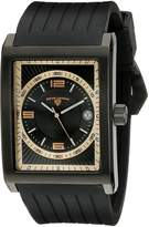 Swiss Legend Men's 40012-BB-01-RA Limousine Textured Dial Silicone Watch