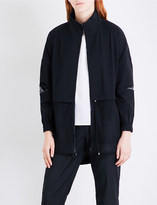 St. John Mesh-panel twill jacket