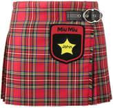 Miu Miu Mini tartan kilt skirt