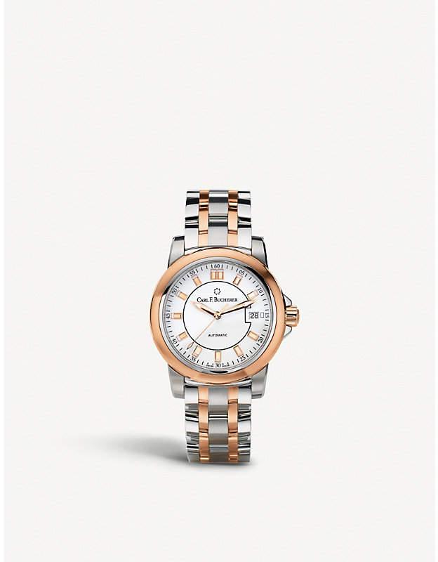 Rosegold CARL F BUCHERER 00.10915.07.13.21 Manero Autodate stainless steel rose-gold sapphire crystal watch