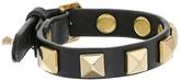 Rebecca Minkoff Single Row Leather Bracelet with Pyramid Studs