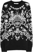 Givenchy Black Printed Cotton Sweatshirt