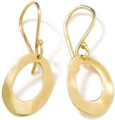 Ippolita 18k Gold Wavy Oval Earrings