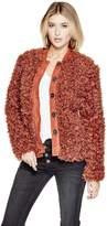 GUESS Women's Camryn Faux-Fur Coat